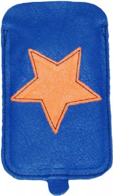 Bellio - Iphonefodral, Klarblått med orange stjärna