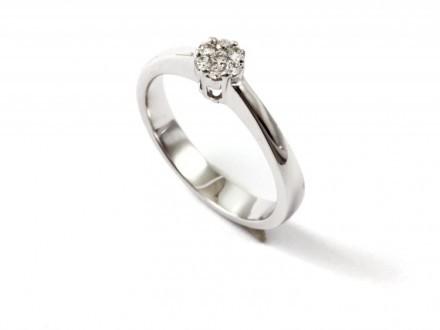 Diamondo Ring 18k Vitguld Diamant 0,14ct