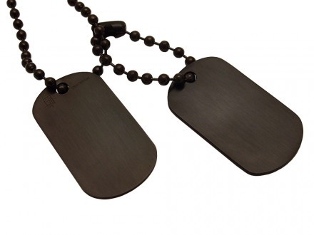 Dogtags Private Steel Black