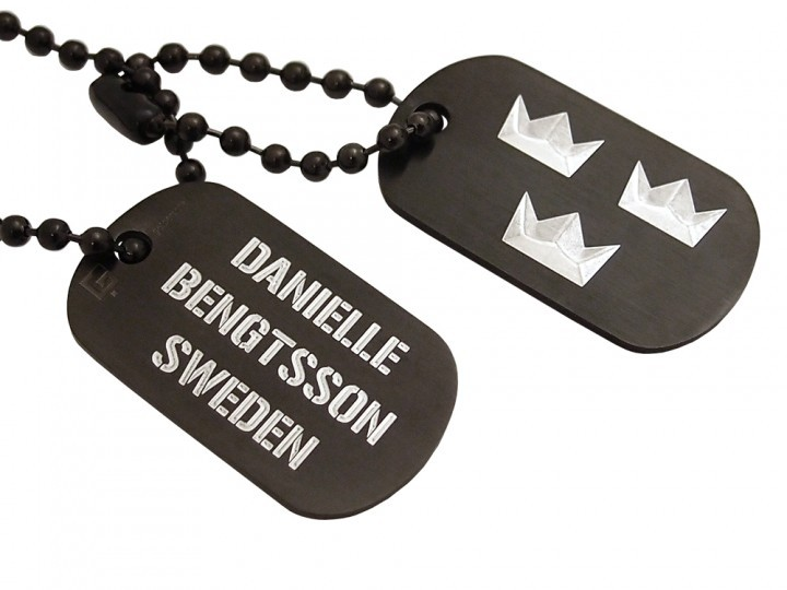 Dogtags Private Steel Black Tre Kronor