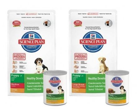 Hill's Science Plan Puppy + Våtfoder på köpet