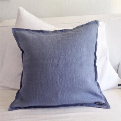 Himla - Kuddfodral i lin 50x50cm, blå