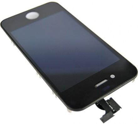 iPhone 4 Ytterglas med LCD - Svart