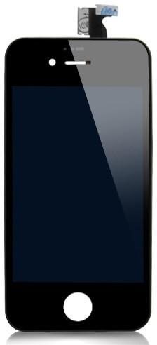 iPhone 4S Ytterglas med LCD - Svart