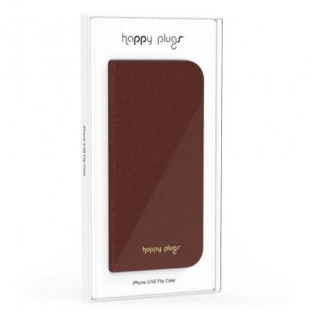 iPhone 5/5S Flip Case Brown