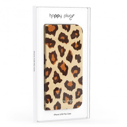 iPhone 5/5S Flip Case Leopard