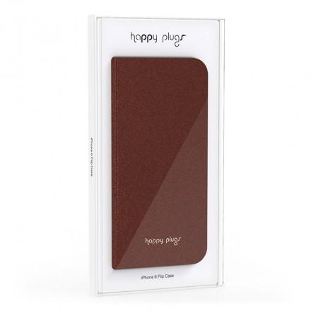 iPhone 6 Flip Case Brown