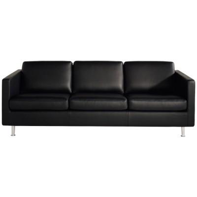 Johan 3-sits soffa Classic Soft läder, svart