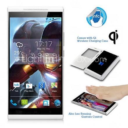 kingzone k1 5.5 ''android 4.3 3g smartphone (FHD-skärm, trådlös laddning, 1,7 GHz okta kärna, ATA, RAM 2GB, 14
