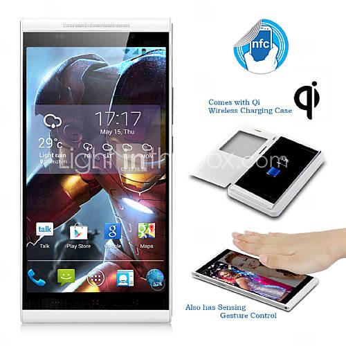 """kingzone k1 5.5 """"android 4.3 3g smartphone (FHD-skärm, trådlös laddning, 1,7 GHz okta kärna, ATA, RAM 2GB, 14"""