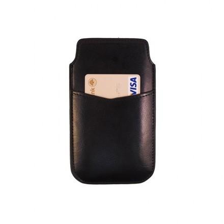Läderficka Svart - iPhone 6 Korthållare