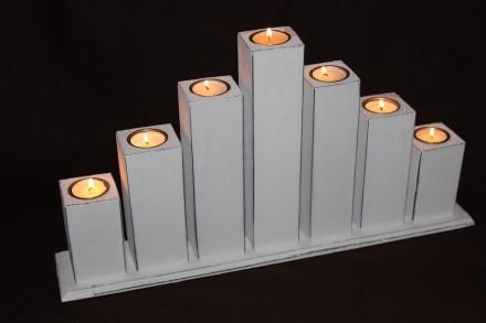 Ljusstake för 7 värmeljus, Shabby Chic