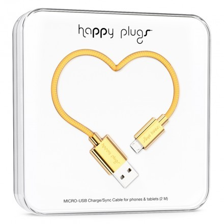 Micro-USB Charge/Sync Cable Gold