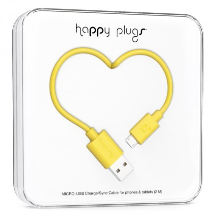 Micro-USB Charge/Sync Cable Yellow