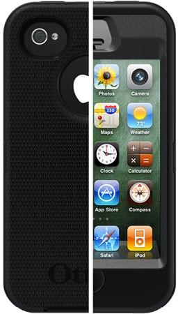 OtterBox Defender Case (iPhone 4/4S) - Grå/gul