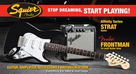 Squier Strat® Elgitarrpaket with Fender Frontman® 10GAmp S