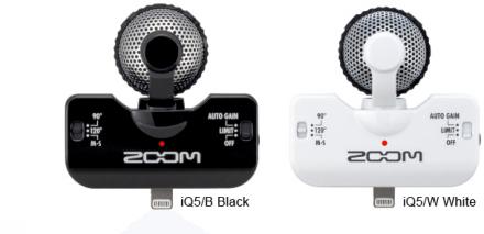 Zoom StereoMik iQ5 - Svart