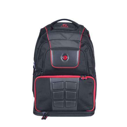 6-pack Voyager Backpack, black/red