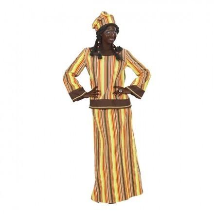 Afrikansk Kvinna Maskeraddräkt