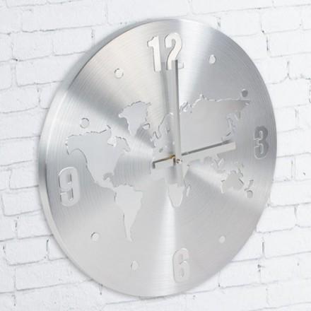 Aluminium Världskarta Klocka
