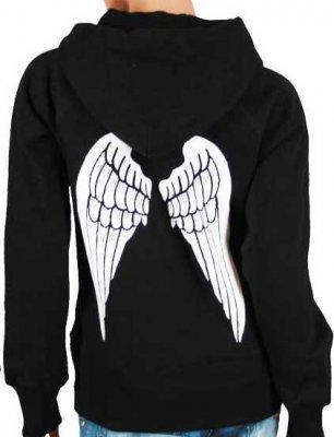 Angel wings zip hoodie (M)