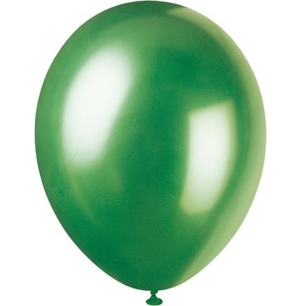 Ballonger Metallic, Grön (100-pack)