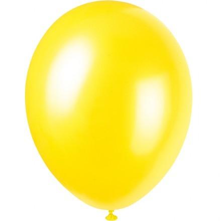 Ballonger Metallic, Gul (100-pack)