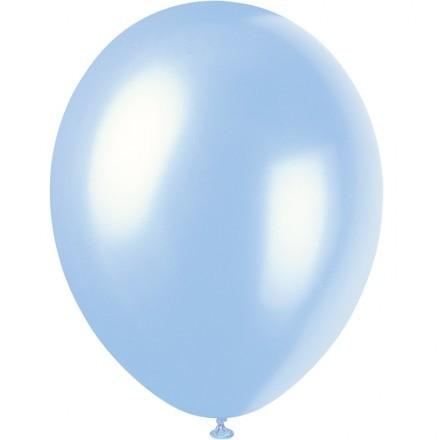 Ballonger Metallic, Ljusblå (100-pack)