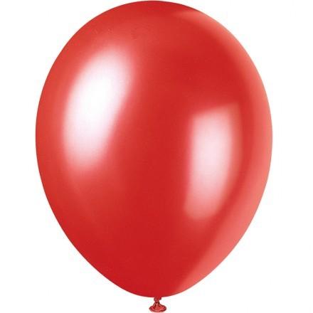 Ballonger Metallic, Röd (100-pack)