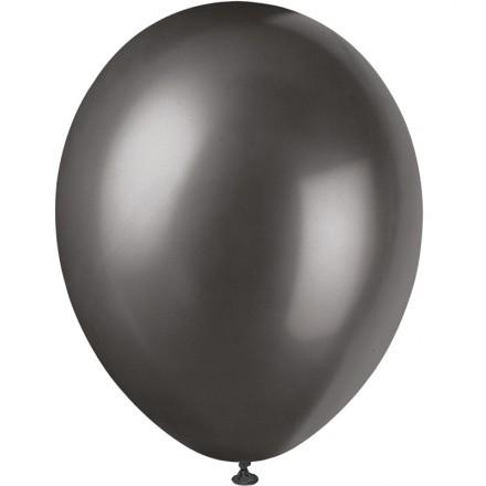 Ballonger Metallic, Svart (100-pack)