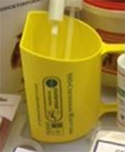 Eclipse Biofarmab Foderskopa gul med tryck