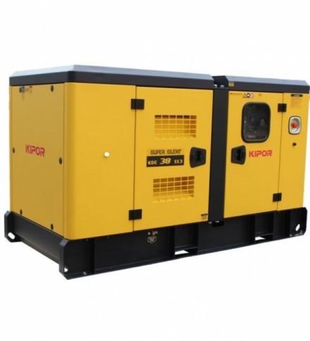 Elkraftsgenerator Kipor KDE38SS3 400V, diesel