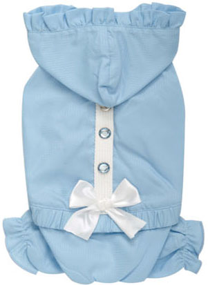 Frilly Four-legged Harness Raincoat