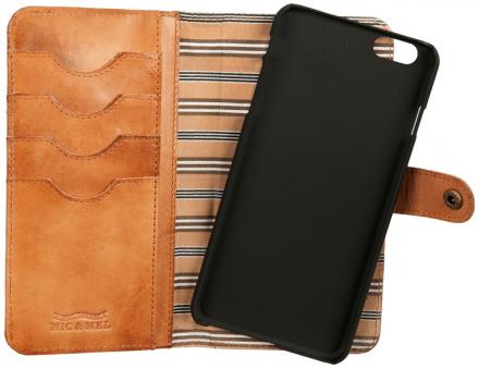 Nic & Mel - Andrew Bookcase (iPhone 6 Plus) - Brun