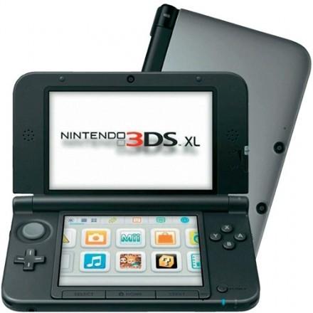 Nintendo 3DS XL silver/svart - demoex