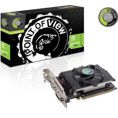 Point of View GeForce GT 740 grafikkort, NVIDIA, 1GB GDDR5-minne, PCI-Express 3