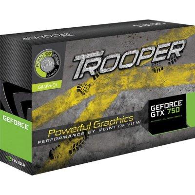 Point of View TROOPER GTX 750 grafikkort, NVIDIA, 1024MB GDDR5-minne, PCI-Express 3