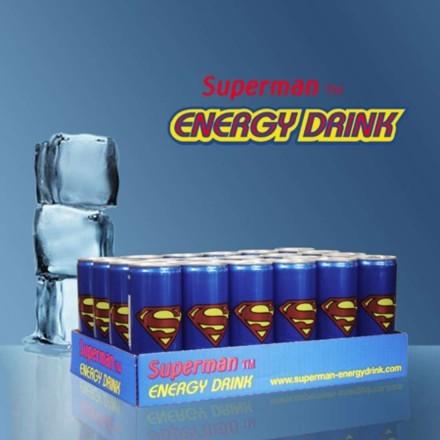 Superman Energidryck 24-pack, 25 cl