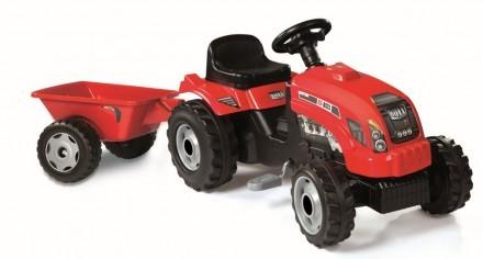 Traktor RX Bull, Röd, Smoby