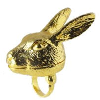 Andrea Garland Vintage Inspired Hartley Hare Ring Lip Balm