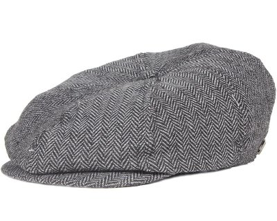 Brixton - Brood Grey/Black Flat Cap (S)