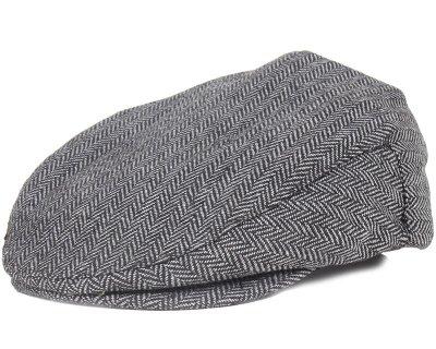 Brixton - Hooligan Grey/Black Flat Cap (S)