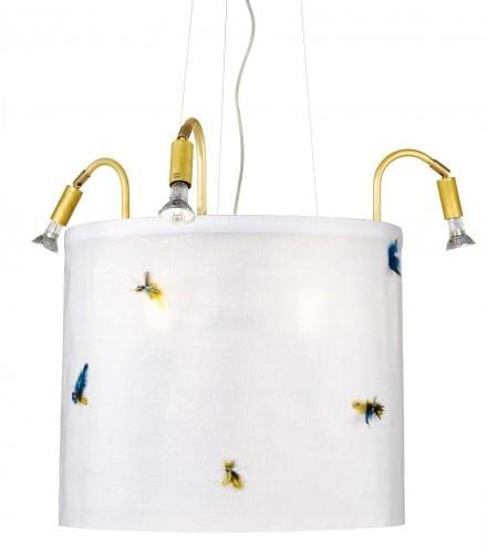 Cirkus taklampa med flugor