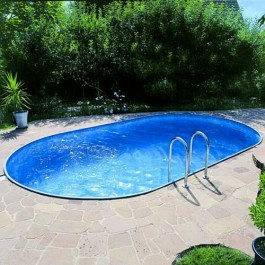 Clear Pool Oval Nedgrävd 737 x 360 cm