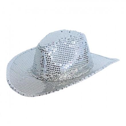 Cowboyhatt Silverpaljetter