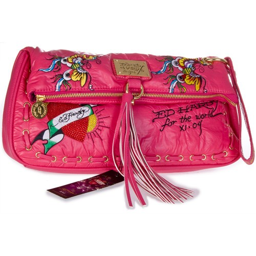 Ed Hardy Original Barbara Bag Fuchsia