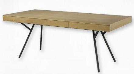 Egon skrivbord - Ek/svart