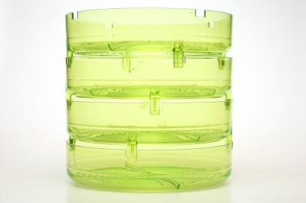 Groddburk för att odla groddar, grön, BPA friplast