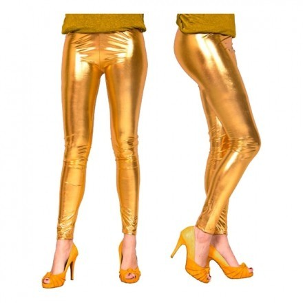 Leggings Metallic Guld