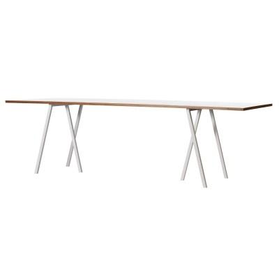 Loop Stand Table bord 200 cm, vit